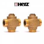 Трехходовые термостатические клапаны Herz Teplomix