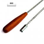 Шомпол гнущийся (металл + дерево) - 60 см